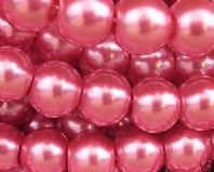 Glass pearl beads 8mm